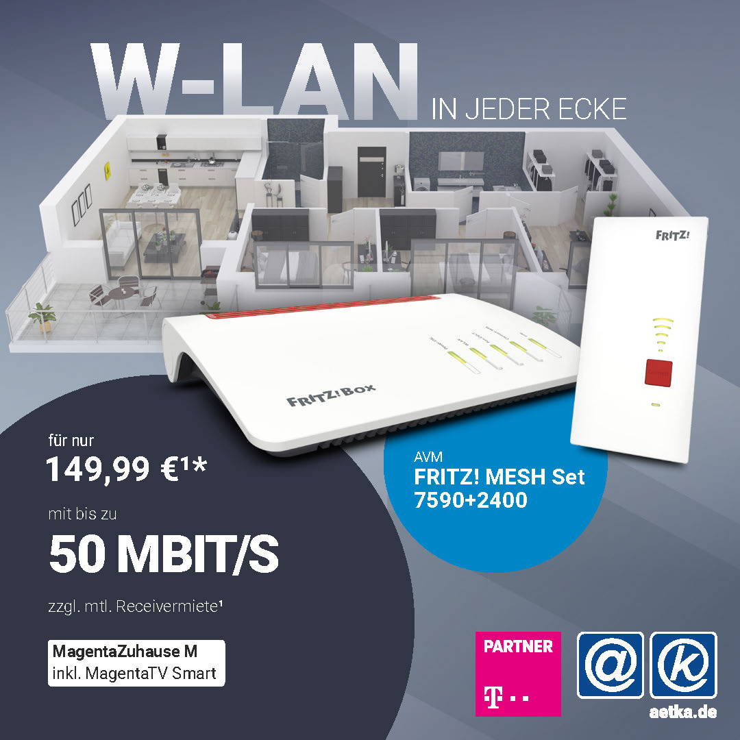 FRitz! Mesh avm 7590 2400 Telekom Welacom