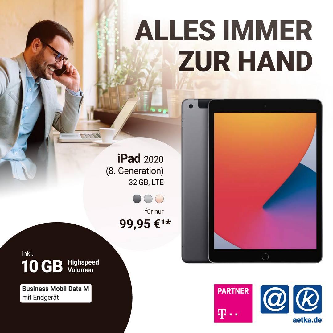 Alles immer zur Hand Apple Ipad 2020 für 99€
