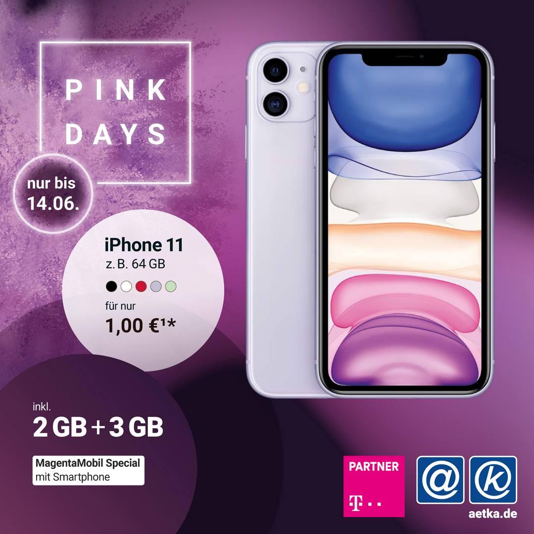 Pink Days Aktion Telekom Apple Iphone 11 Welacom