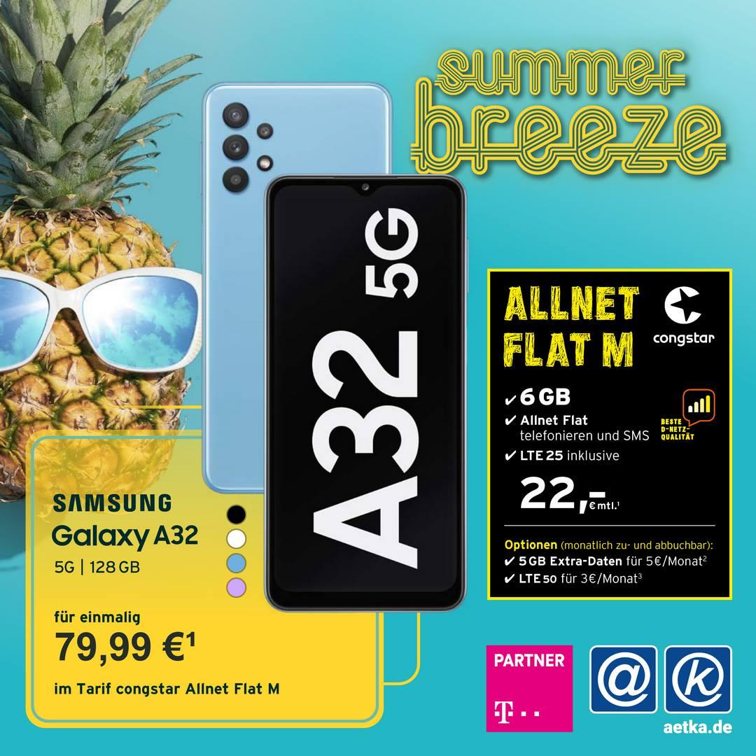 Aktion Congstar A32 Samsung Allnet Flat M