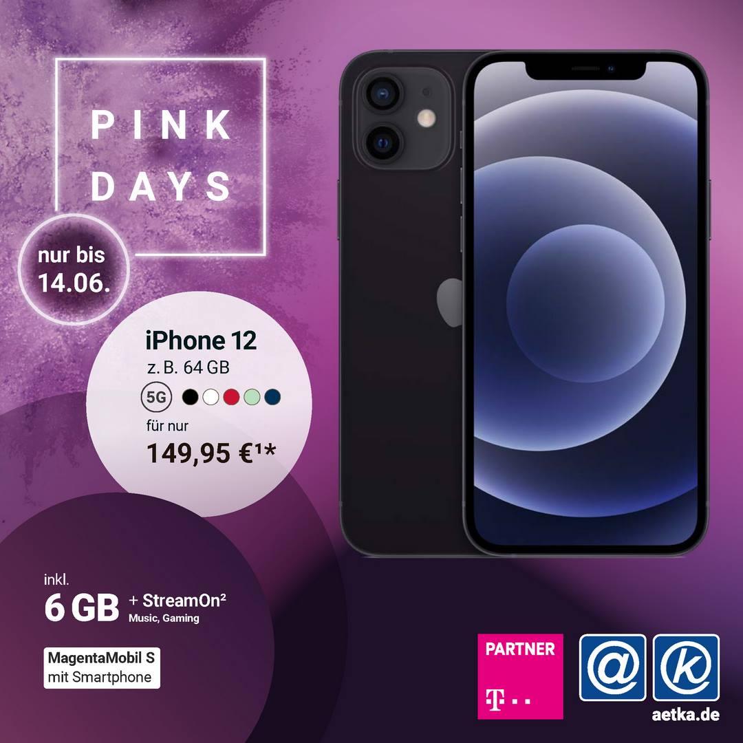 Pink Days Aktion Telekom Apple Iphone 12 Welacom