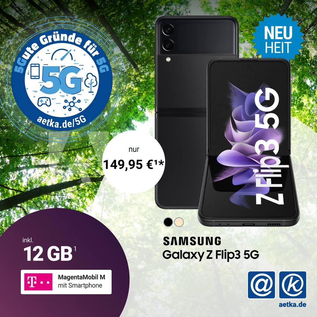 Samsung ZFlip3 5G Aktion Telekom Welacom